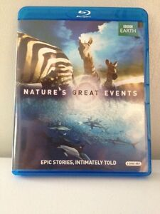 Nature's great events BBC Blu-ray disc 2 disc set Kingston Kingston Area image 1