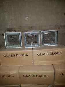 "7"" square x 3"" glass blocks"