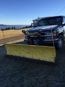 FOR SALE: CHEV PICK UP WITH PLOW
