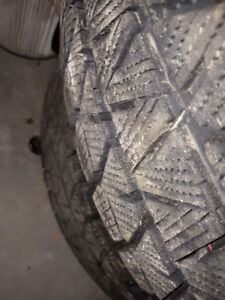 4 month old 215 60 16 Bridgestone Blizzak winter tire on vw rims