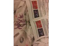 4x Alton towers tickets 10/09/2016