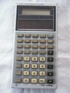 TI scientific calculator - solar powered - no batteries