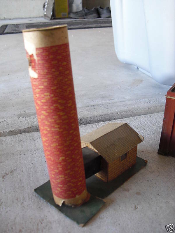 Vintage OO Scale Cardboard Building w/ Smoke Stack
