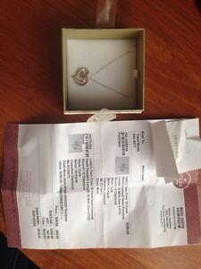 Lady's Two-Tone 10K heart Diamond