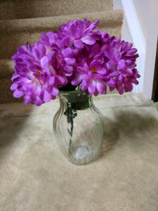 Five flower vases