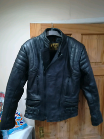 Men's JTS Leather Motorcycle Jacket