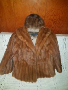 Fur coat and hat $100 OBO