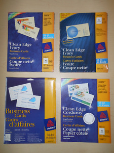 Cartes d'affaires AVERY Business cards - NEUF / NEW