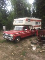 1977 Ford and camper
