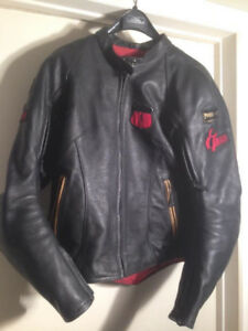 Power Trip Black Widow Ladies Leather Motorcycle Jacket Woman's