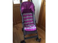 Mamas & Papas grey and pink pushchair. Ideal holiday buggy