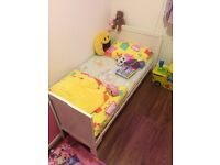 White cot bed cum junior bed for sale.