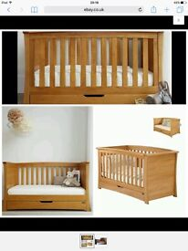 Mamas & Papas Nursery Furniture '3 piece OCEAN OAK Range'