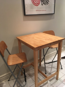 Ikea High Bar Table and Chairs