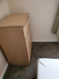 FREE single bed, chest drawers, bedside cabinet and arm chair