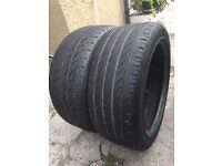 "2x 17"" Pirelli car tyres (size 225-45-17)"