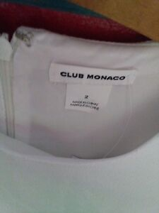 club monaco dress renlana white  size 2