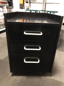Mobile Black Office Rolling Cart: IKEA