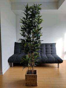 Fake bamboo plant Ikea + basket