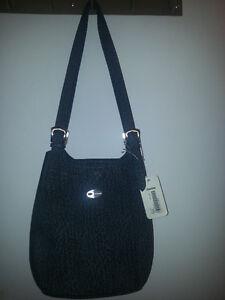 Woman handbag, Alberto Italia, dark grey leather genuine
