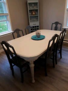 Refinished Dining Room table and 6 chairs