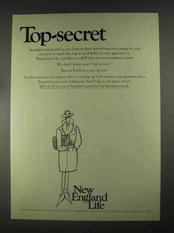 1967 New England Life Ad - Top-Secret