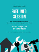 FREE Info Session for Homeowners! Interior Design/Construction
