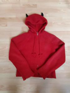 100% wool devil sweater