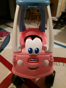 LittleTykes Pink and Blue Cozy coupe car