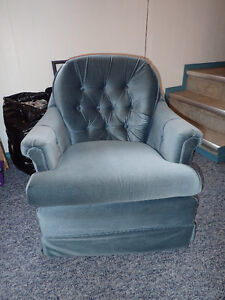 Small blue rocking/swiveling chair