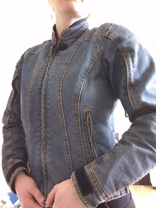 Tourmaster denim motorcycle jacket, women's S! Very stylish!