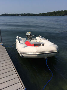 Boat and 5HP Honda 4-stroke Engine with Trailer