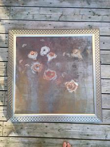 large framed art painting