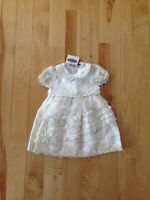 Beautiful beige dress size 3 months