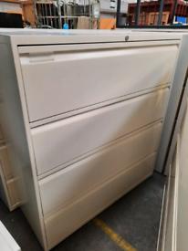 Bisley suspension side filing 4 drawer unit - NO KEYS