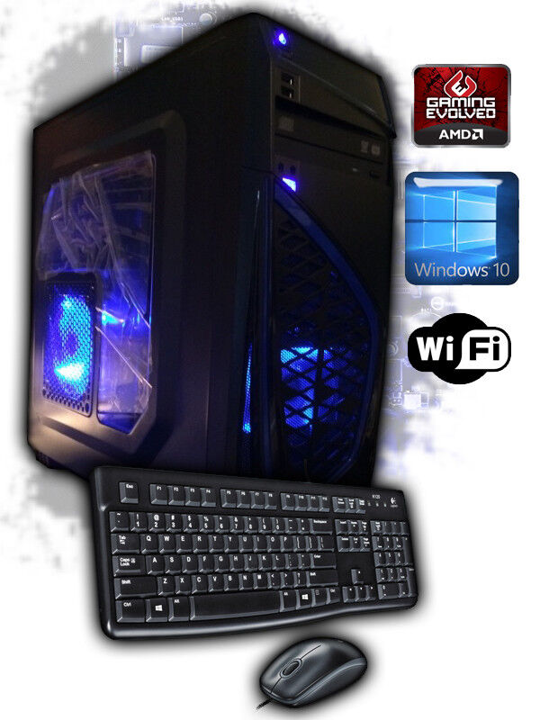 AMD Quad-Core 4.2GHz Custom Gaming Desktop PC Computer Syste
