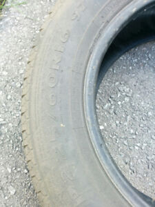 2 used tires 225\60R16