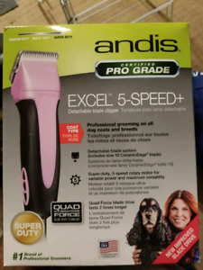 Andis 5 speed clipper firm price brand new never opened