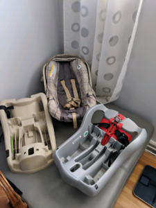Two graco car seat bases and car seat