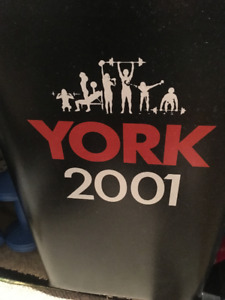 York 2001 weight set with bench . Excellent condition . $50.00