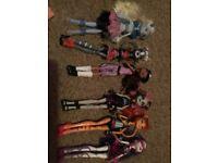 Monster high dolls!