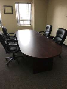 Boardroom Table and 4 Chairs - NEW PRICE
