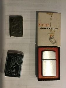 Three Early 1900's Cigarette Cases and Three Lighters