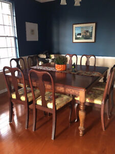 MUST GO - GORGEOUS Solid Square Dining Table & Chairs