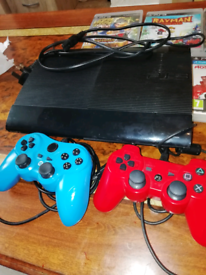 Play station 3 with 2 controls