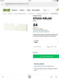 Ikea STUVA MALAD drawer front x2