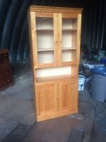 Solid pine China/ display cabinet
