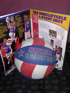 Harlem GlobeTrotters Autographed program plus rare basketball