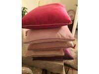 6 X Laura Ashley Nigella Velvet Cushions