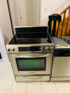 Kitchenaid stainless steel slide in stove for sale